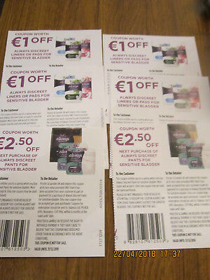 Always Discreet Liners/pads Underwear Coupons Euro 9 Total Money Off Vouchers