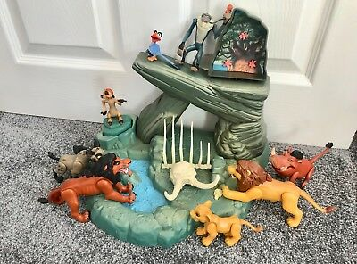 Vintage The Lion King Pride Rock Playset by Mattel and Characters - RARE