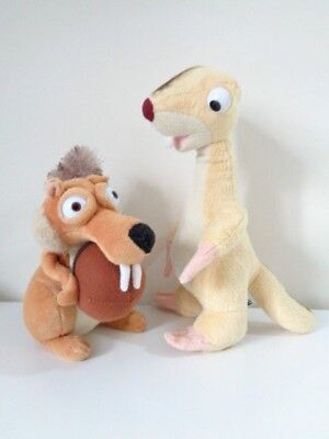 Ice Age 4 - Scrat The Squirrel & Sid The Sloth Soft Toys