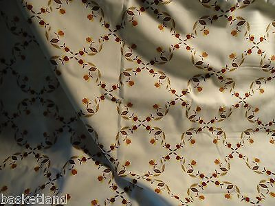 1-2/3 Yards Of Hall Vintage Autumn Leaf Jewel Tea Fabric •100% Cotton