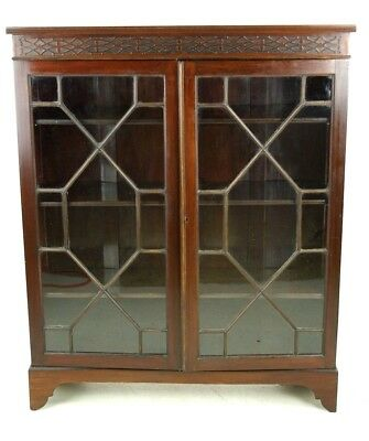 Antique Bookcase, Mahogany Bookcase, Scotland 1910, Antique Furniture, B1075