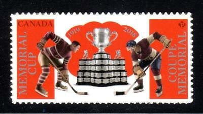 2018 Canada MEMORIAL CUP Stamp ~ From Booklet MNH ~ New Issue May 18; FREE SHIP