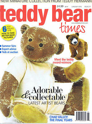 Teddy Bear Times magazine. Issue 217. June - July 2015.  Mint condition.