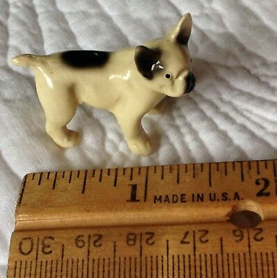World's Smallest Frenchie As A Vintage Germany Porcelain French Bulldog Figurine