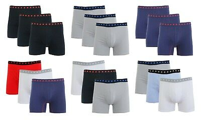 Mens Cotton Stretch Boxer Briefs Soft Colors Comfort Tagless Trim NWT 3X 6X Pack