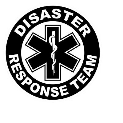 """Disaster Response Team 2"""" Round Reflective Decal"""