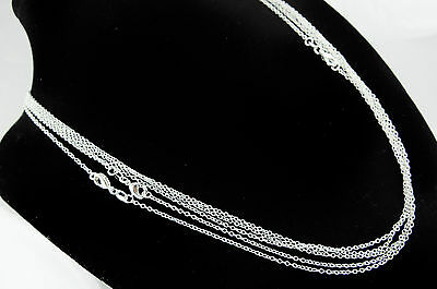 Fine Silver Chain 925er Silver Plated Anchor Links Rolo Neck Oval 40-80cm