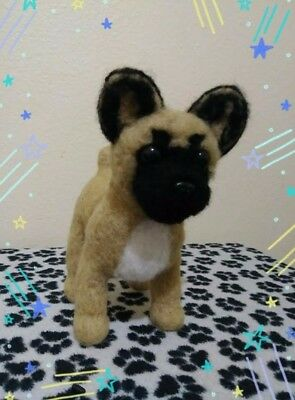One of kind. French bull dog. Needle felted wool sculpture.Collectable.