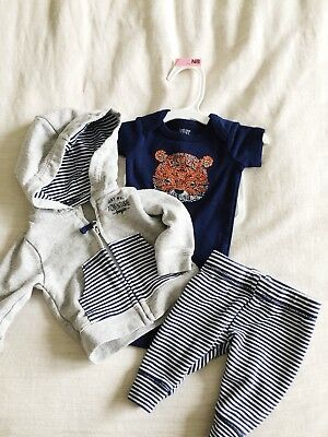 3 Piece NB Baby Boy outfit Spring/Summer Clothes Carters