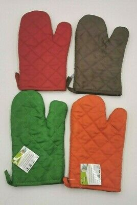 Durable Oven Mit Mitts Glove Color Heat-Absorbing Quilted Layers Kitchen