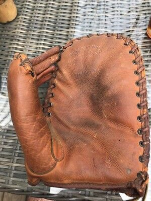 VINTAGE 1939 WILSON 563XST BASEBALL GLOVE WWII U.S Armed Forces