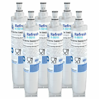 Refresh Replacement Water Filter Fits Whirlpool 4396508P Refrigerators (6 Pack)