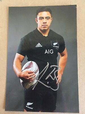 Anton Lienert-Brown New Zealand Rugby Player Signed 6x4 Photo