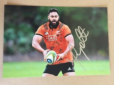 Patrick Tuipulotu - New Zealand Rugby Player Signed 6x4 Photo