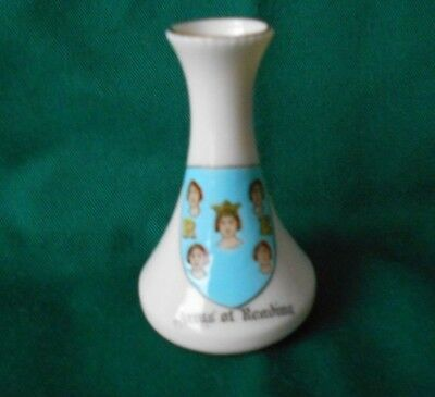 Carlton China Crested Ware 'Arms of Reading' Bud Vase Walter J Davies