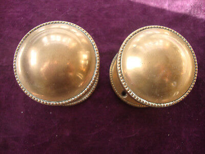 Fine pair heavy duty bronze door knobs
