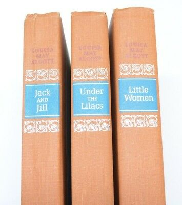 Louisa May Alcott Books Lot of 3 Jack Little Women Lilacs Hardcover Vtg 1950s