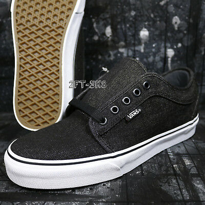 fbfc12638d088e VANS CHUKKA LOW Denim Black Black Men s 7.5 Skate Shoes s85138.194 ...