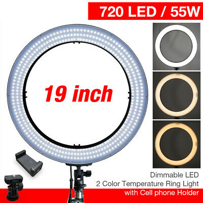 """Lusana Studio Photography 14"""" LED Dimmable Ring Light for Makeup & Photo/Video"""