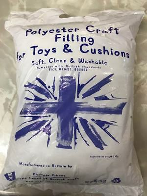 Toy Stuffing Craft Cushion Filler 100% Polyester Fire Retardant Washable 250g