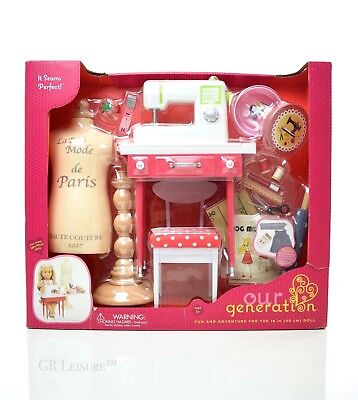 OUR GENERATION IT Seams Perfect Sewing Machine Play Set For 40 Beauteous 18 Doll Sewing Machine