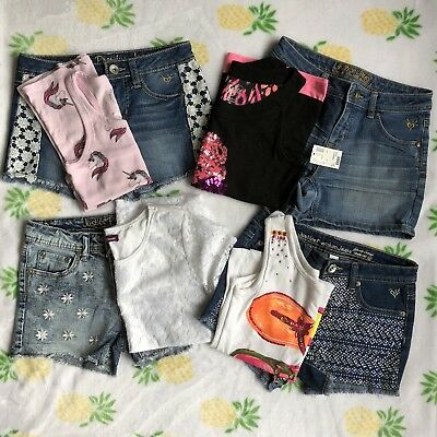 Lot of 8 Girl Summer Clothes, Size 12, Justice, etc.