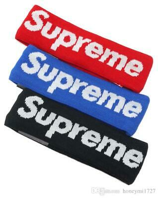 SUPREME HEADBAND New Era 2014 RED Black And Blue 7OP RATED PLUS SELLER FAST SHIP