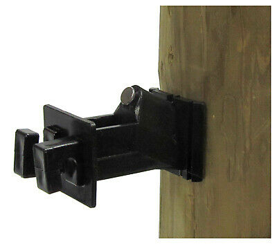 Electric Fence Insulator, Wood Post Wire, Snug-Fit With Nail, Black, 25-Pk.