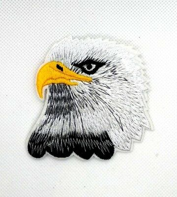EAGLE HEAD-AMERICAN BIRD-PATRIOTIC-USA/Iron On Embroidered Applique Patch 183