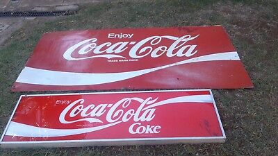 Large metal coca cola signs and coca cola light housing