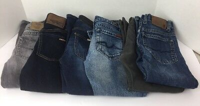 Lot of 6 Boys Size 5/6 Jeans Blue Gray Hudson 7 Mankind Tucker Quiksilver Volcom
