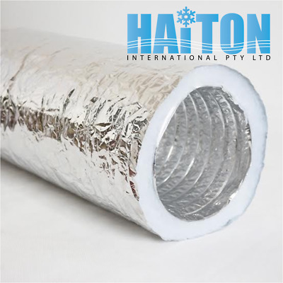 "Insulated Ducting Flexible R1.0 200mm (8"") Diameter 6 metres length"