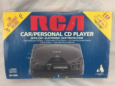 RCA CD portable disc Player RP-7906 in box car personal accessories in box NEW