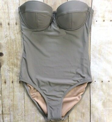 c3a1a2c392876 NWOT J. CREW D-Cup Underwire One-Piece Swimsuit sz 0 EAR earth ...