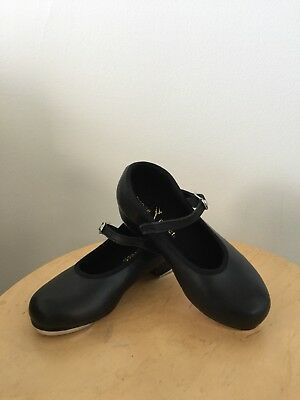 BRAND NEW Size 11 Small GIRLS Black TAP SHOES Little