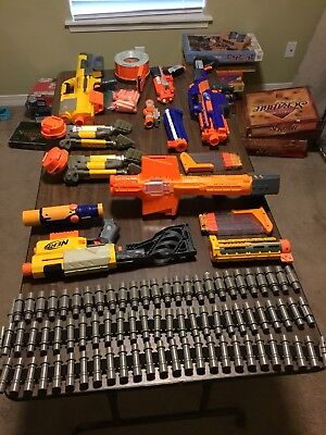 Large NERF Lot 18 Pieces Plus Assorted Darts