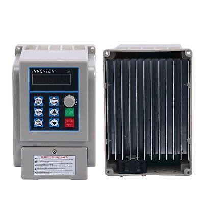AC220V 1.5kW 8A VFD Single-phase Speed Control Variable Frequency Drive Inverter