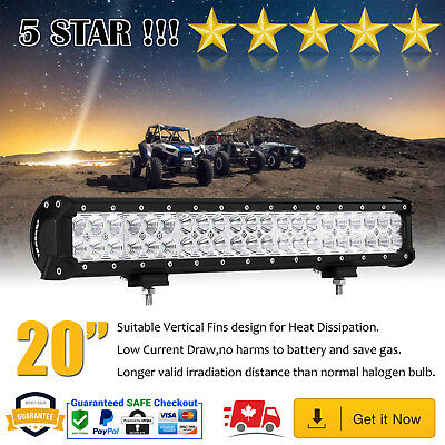 20Inch 126W CREE LED Light Bar Combo Spot Flood Work SUV 4X4WD Lamp Offroad 4WD