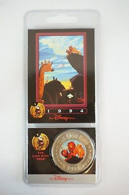 Disney Store Decades Coin Medal #39 The Lion King 1994 Simba