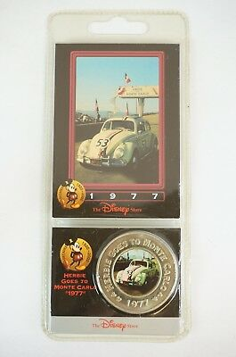 Disney Store Decades Coin Medal #43 Herbie Goes To Monte Carlo 1977