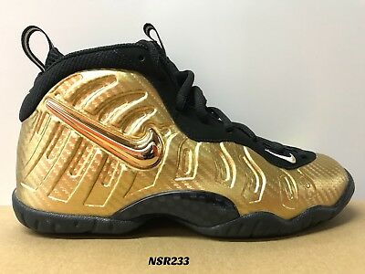 1c20485844a Nike Little Posite Pro Gs Metallic Gold Black 644792 701 Size 5 Yeezy Brand  New