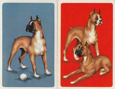Genuine Swap / Playing Card - 2 Single - Boxer Dogs