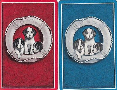 Genuine Swap / Playing Card - 2 Single -  Dogs In The Lifebuoy
