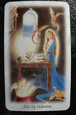 Six of Wands The Celtic Dragon Tarot Single Replacement Card Excellent