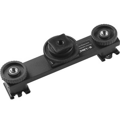 BOLING Hot Shoe Extension Bar Mount Dual Bracket For DV Video Camera LED Li O2Z1