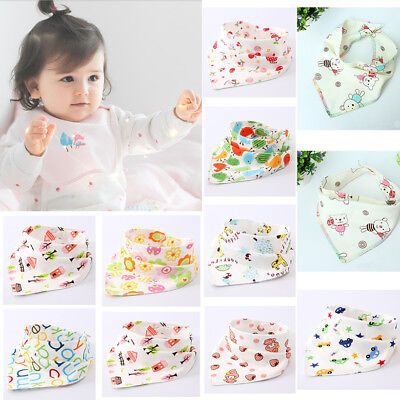 TOP Cotton Infant Baby Unisex Bibs Feeding Saliva Towel Triangle Dribble Bandana