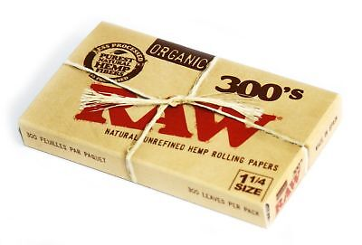 RAW Organic 300 1.25 1 1/4 Size Rolling Papers 1 Pack = 300 Leaves New