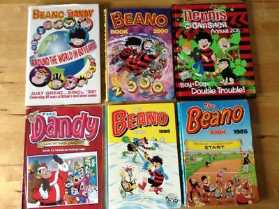 Bundle of Dandy Annuals, 7, plus 5 other annuals and a Dandy thick comic.