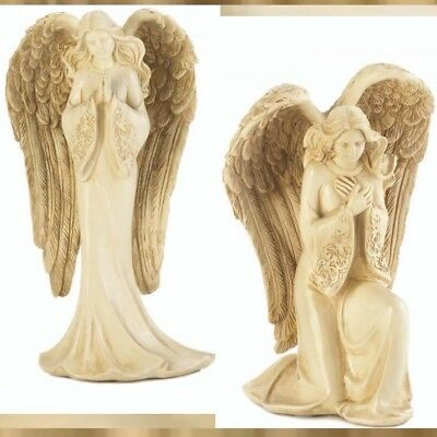 Set of 2 Lovely Praying Angel Figurine - New