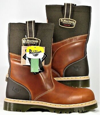 26c1d6674 Dr Martens AirWair Steel Toe Safety Boots Brown Leather SZ 12 NEW ASTM  F2413 11